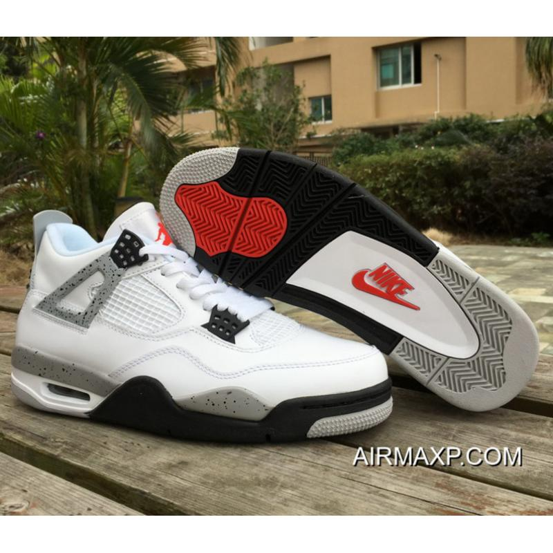 bf5fc85589ad61 Air Jordan 4 Retro OG  White Cement  White And Fire Red-Tech Grey ...