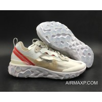 Women Men Online Undercover X Nike React Element 87 White Cream Red 49b534af0
