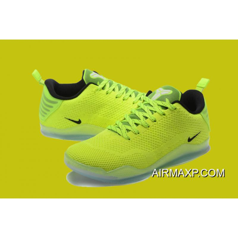 """new concept a2338 9695d ... Nike Kobe 11 Elite Low """"Christmas"""" Liquid Lime And Dark Obsidian New  Style ..."""