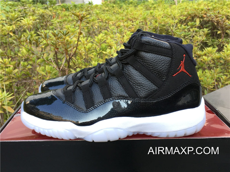 new styles 4dbca 0a6ab Where To Buy Air Jordan 11  72-10′ Black And Gym Red-