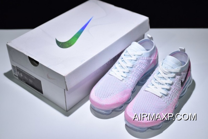 new concept 7d256 63fa0 Women Top Deals Nike WMNS Air VaporMax 2.0 White And Hydrogen Blue-Pink