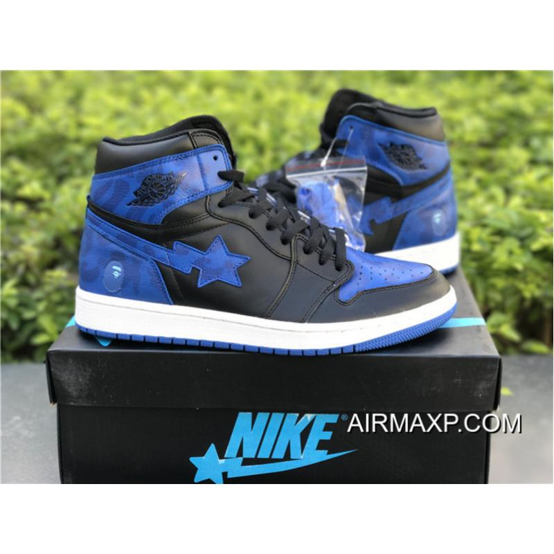 "newest e255d 04df6 ... BAPE X Air Jordan 1 ""Royal"" Custom By Jack The Ripper Authentic ..."