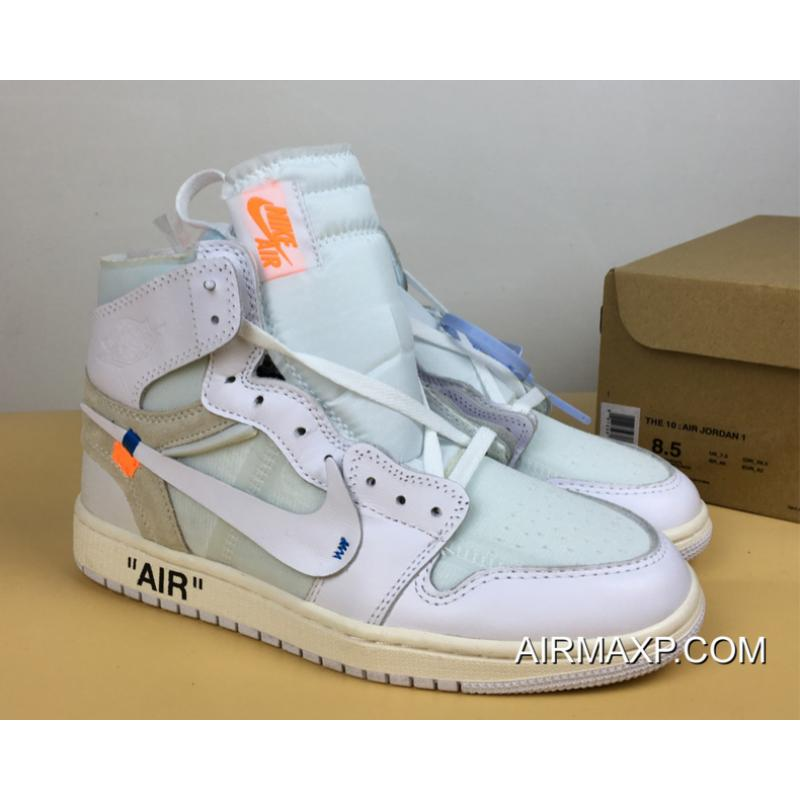 ac25f0cc4202 Virgil Abloh X Off-White X Air Jordan 1 White New Style ...