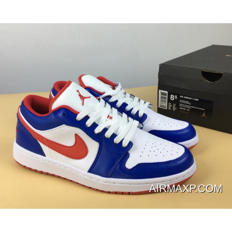 Women Men Air Jordan 1 Low East Side White Varsity Red Varsity Royal New Style Price 87 80 Discount Airmax Shoes Online Store