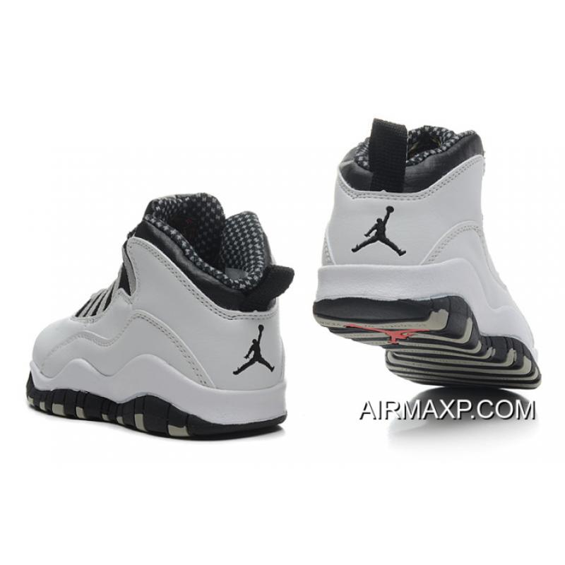 146cacc2c87996 ... Air Jordan 10  Steel  White And Black-Light Steel Grey Red Latest ...