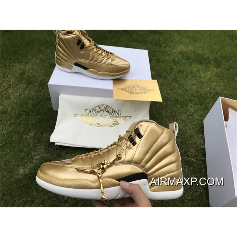 0d867f855718 ... Authentic Air Jordan 12 Pinnacle Metallic Gold ...