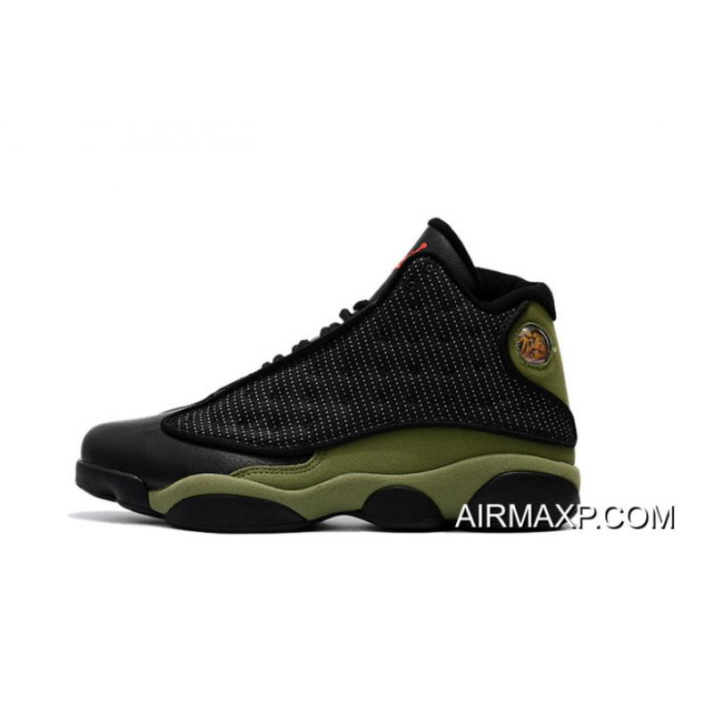 a05f52f4985e05 Outlet Air Jordan 13  Olive  Black And True Red-Light Olive ...