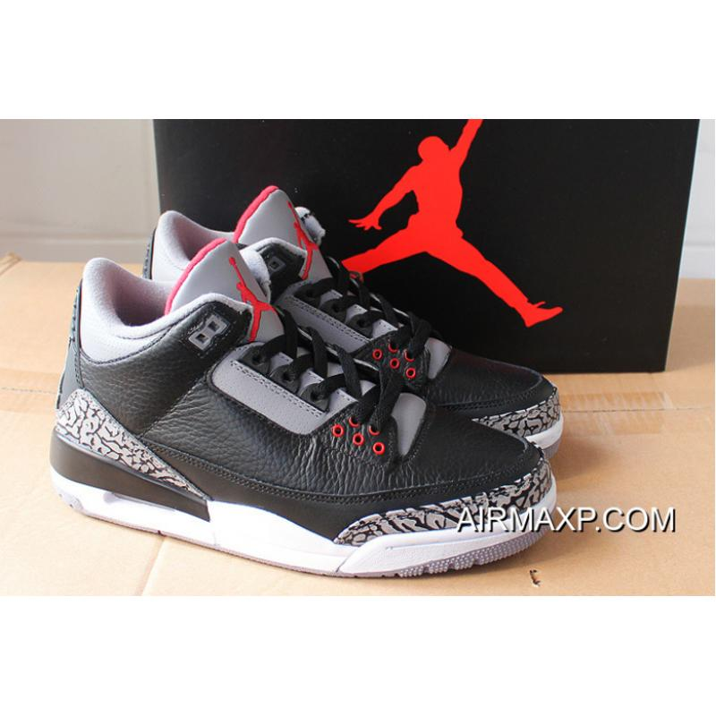 449a3f02d74c Women Men Free Shipping Air Jordan 3 Retro OG Black Cement ...