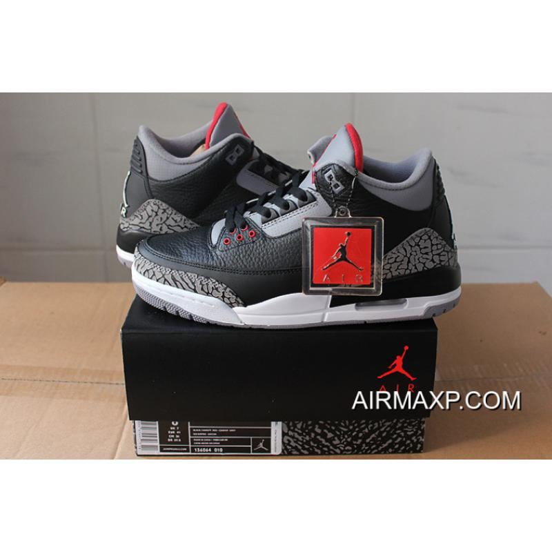 ... Women Men Free Shipping Air Jordan 3 Retro OG Black Cement ... b841eadc7