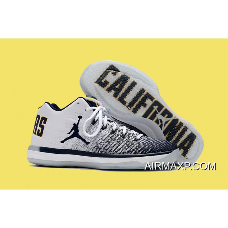 quality design bdfe6 3e5c8 Air Jordan 31 Low  Cal  White And Amarillo-College Navy Free Shipping ...