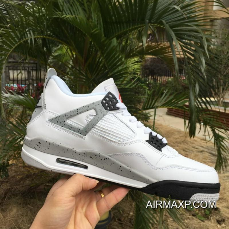 9269c0fd987b ... Air Jordan 4 Retro OG  White Cement  White And Fire Red-Tech Grey ...