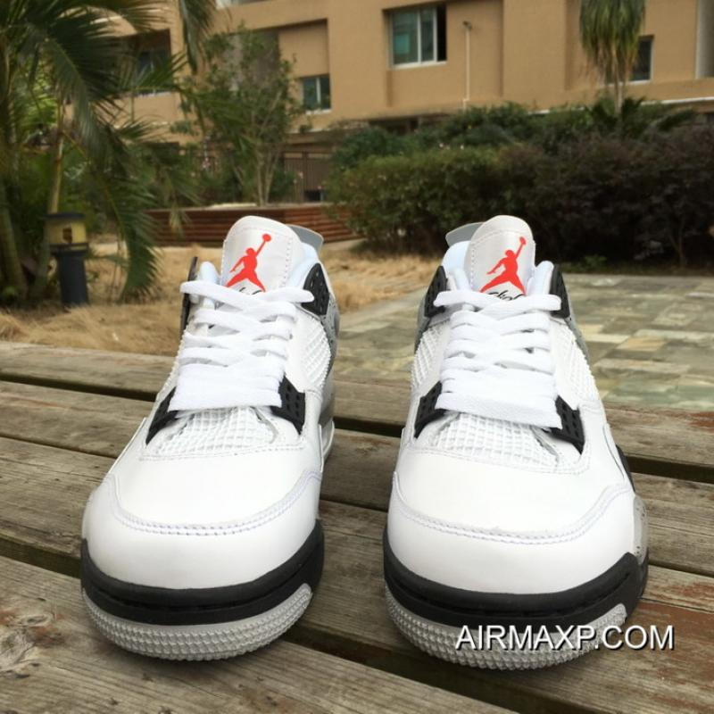 new style c013f 19f3e ... Air Jordan 4 Retro OG  White Cement  White And Fire Red-Tech Grey