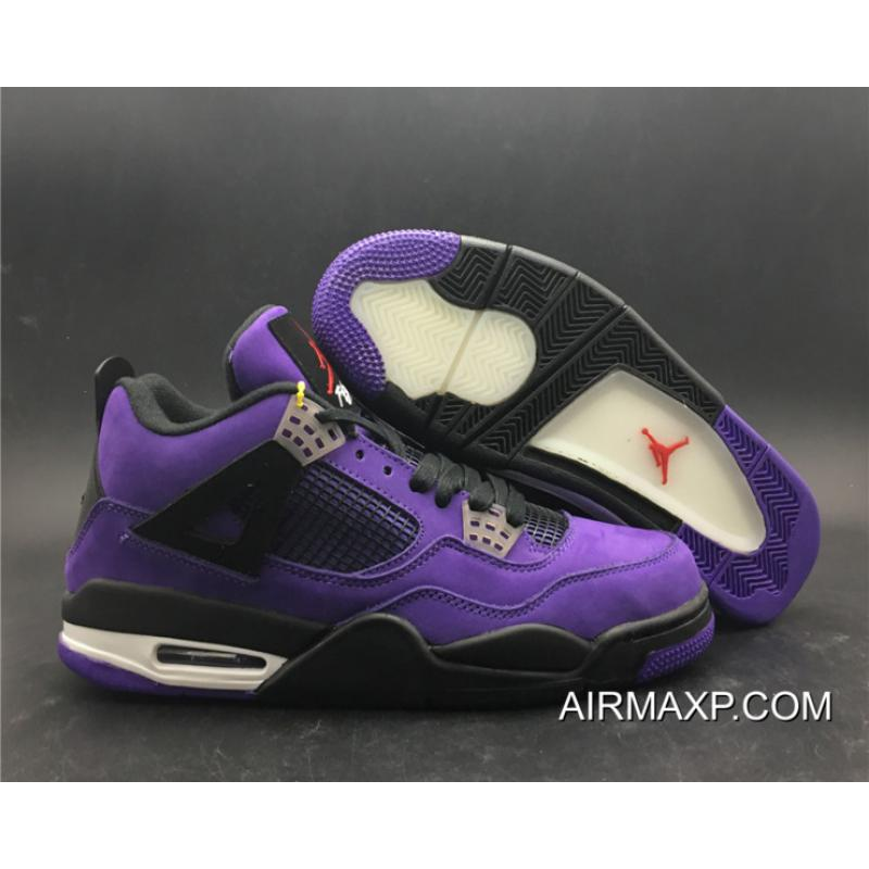 separation shoes 9dff1 a2375 Travis Scott X Air Jordan 4 Purple Free Shipping