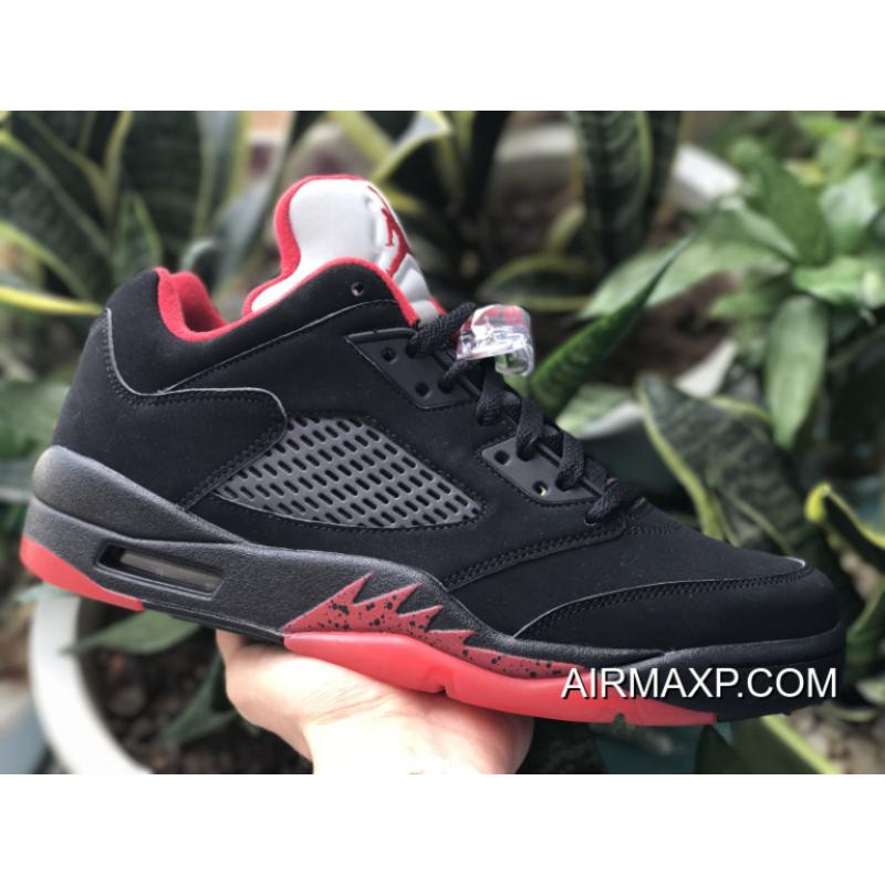 ... Air Jordan 5 Low  Alternate 90  Black And Gym Red-Black Outlet ... c2aaa356e3
