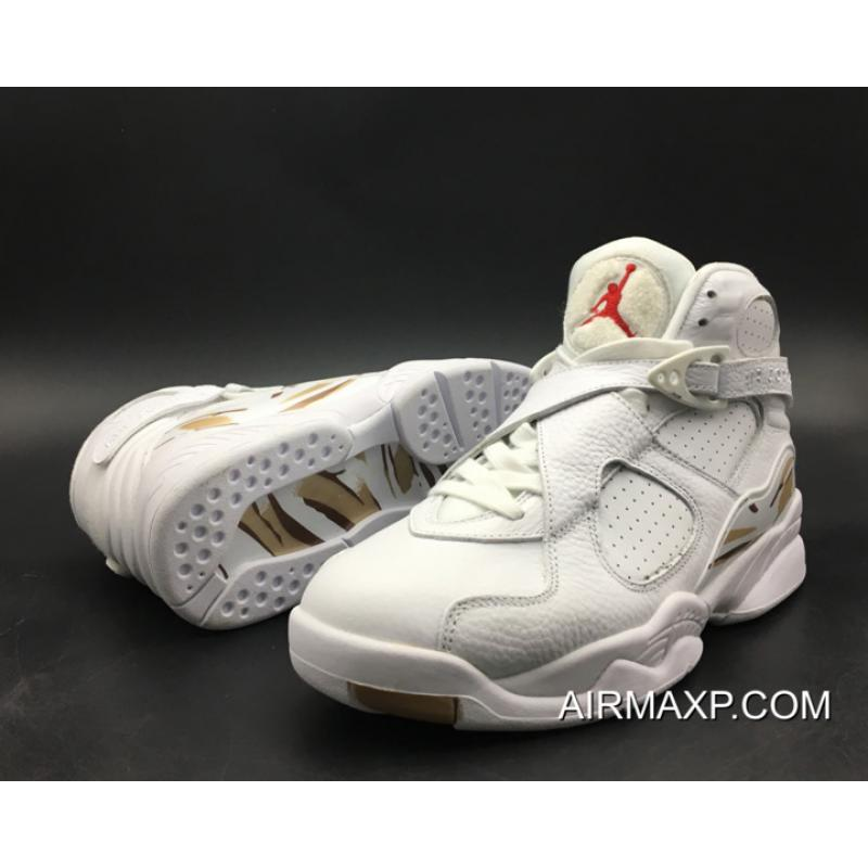 huge selection of c0ded 3472d Where To Buy Air Jordan 8  OVO  White Metallic Gold Varsity Red ...