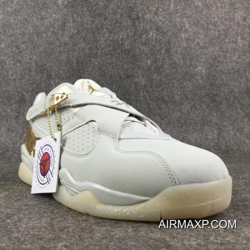 ... Best Air Jordan 8 Low  Champagne  Light Bone Metallic Gold-White ... 9c7ffaa4a