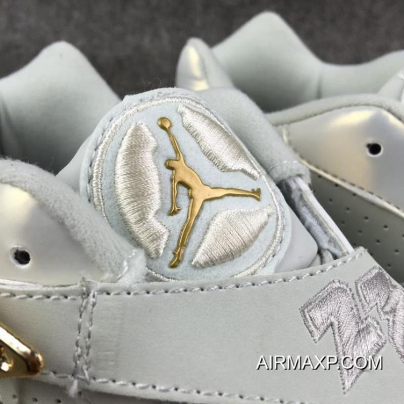 Best Air Jordan 8 Low  Champagne  Light Bone Metallic Gold-White ... 59317518b