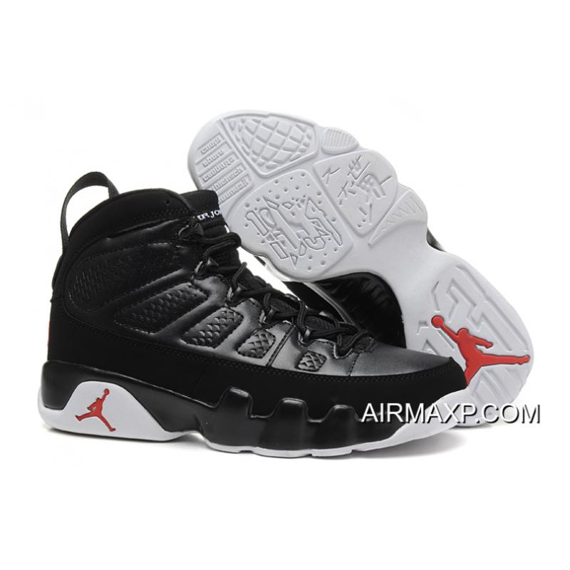 f1c9cdaec4a202 Air Jordan 9 Black-White Varsity Red New Release ...