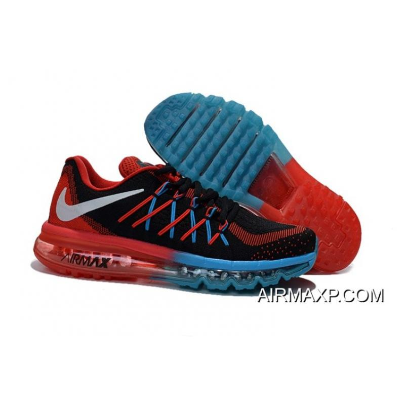Air Max 2015 Flyknit Red Black Blue