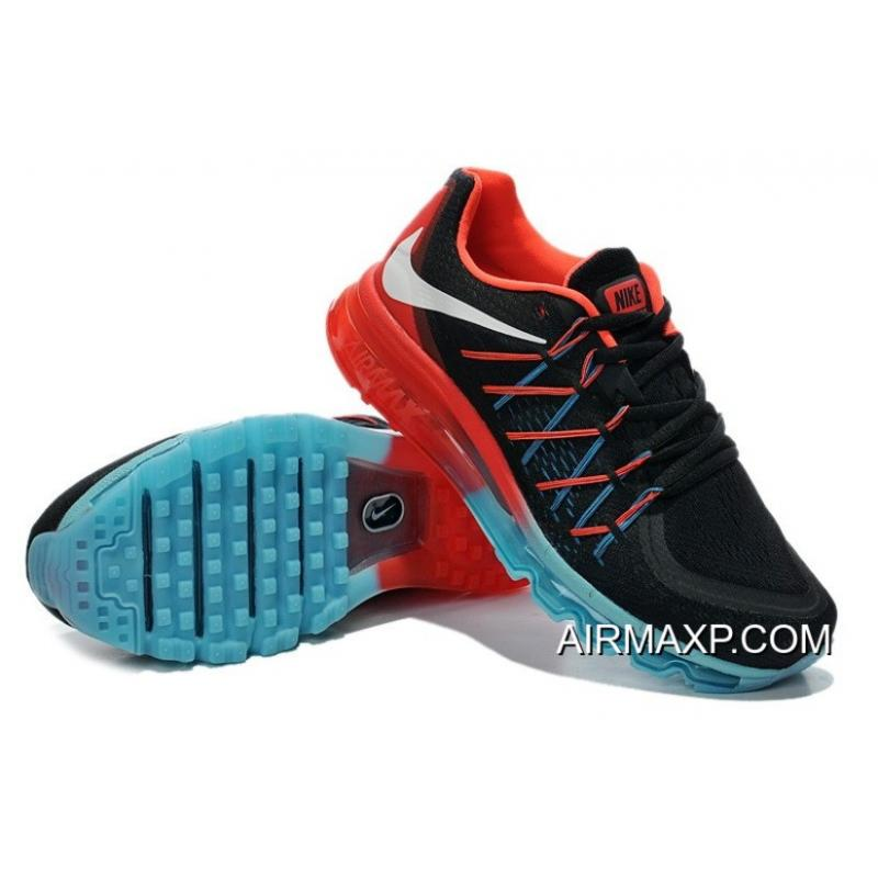 buy online 605b0 2641f ... Nike Air Max 2015 Black Blue Fire Red Free Shipping ...