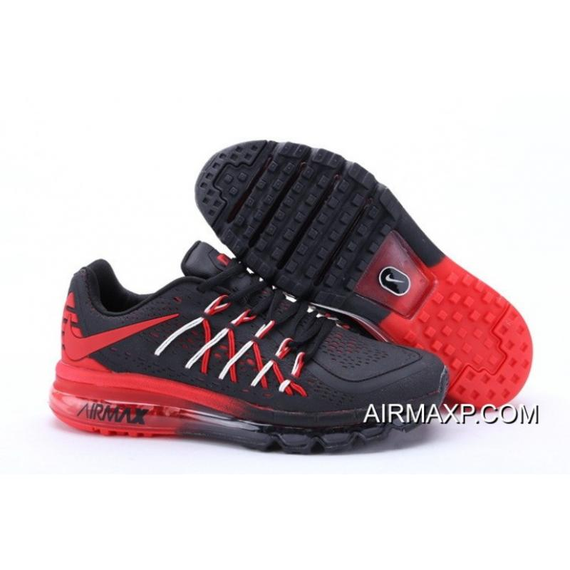 best service cb6f7 932fb Nike Air Max 2015 Black Red For Sale ...