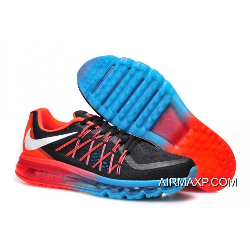 Nike Air Max 2015 Men Black White Red Running Shoes Latest ... f0a1bcaa9