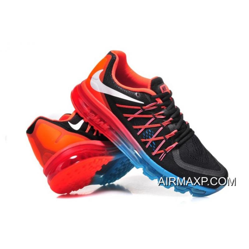 8acc1b1405742 Nike Air Max 2015 Men Black White Red Running Shoes Latest, Price ...