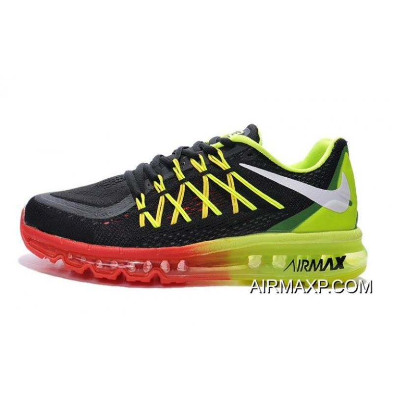 Nike Air Max 2015 Red Black Green Top Deals, Price: $77.45