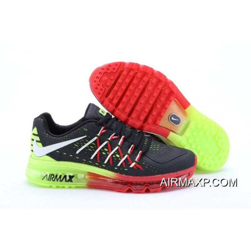 new products 81b46 8461b Nike Air Max 2015 Red Black Green Top Deals 1530213 ...