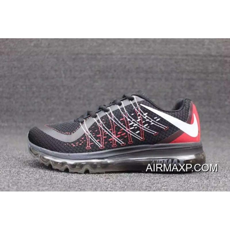 Women Nike AirMax 2015 Red Black White Outlet