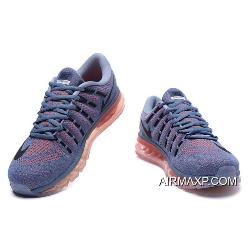 Nike Air Max 2016 Light Grey Blue Red For Men New Style