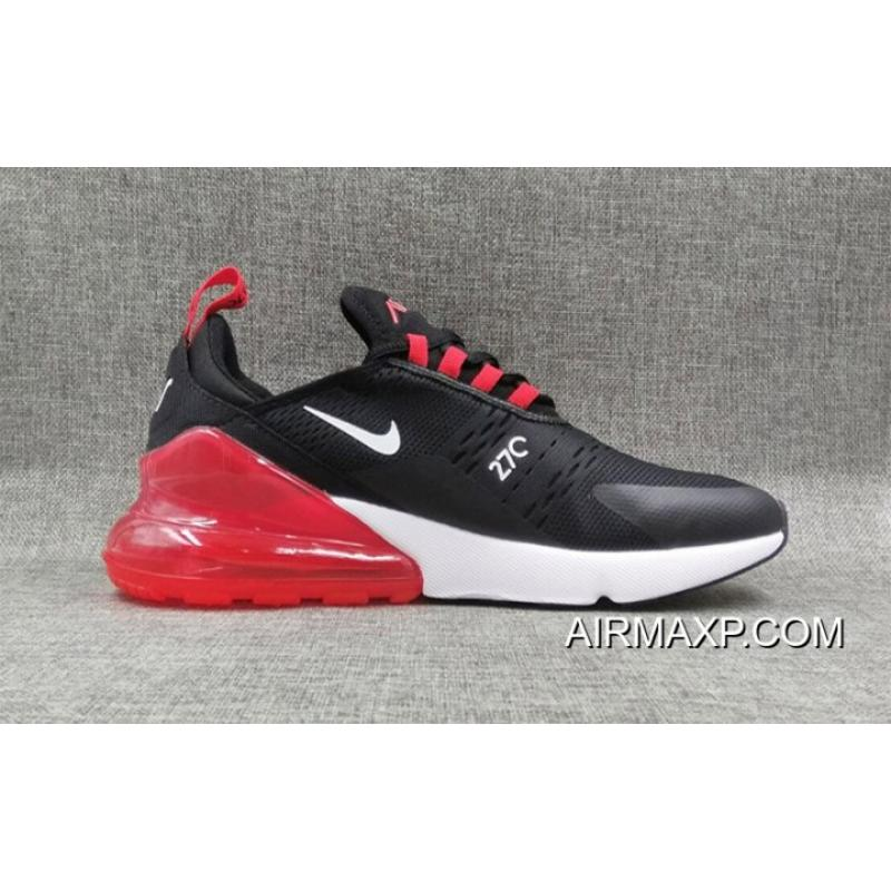 purchase cheap 9bccb 27c64 Nike Air Max 270 Flyknit Black White Red New Style