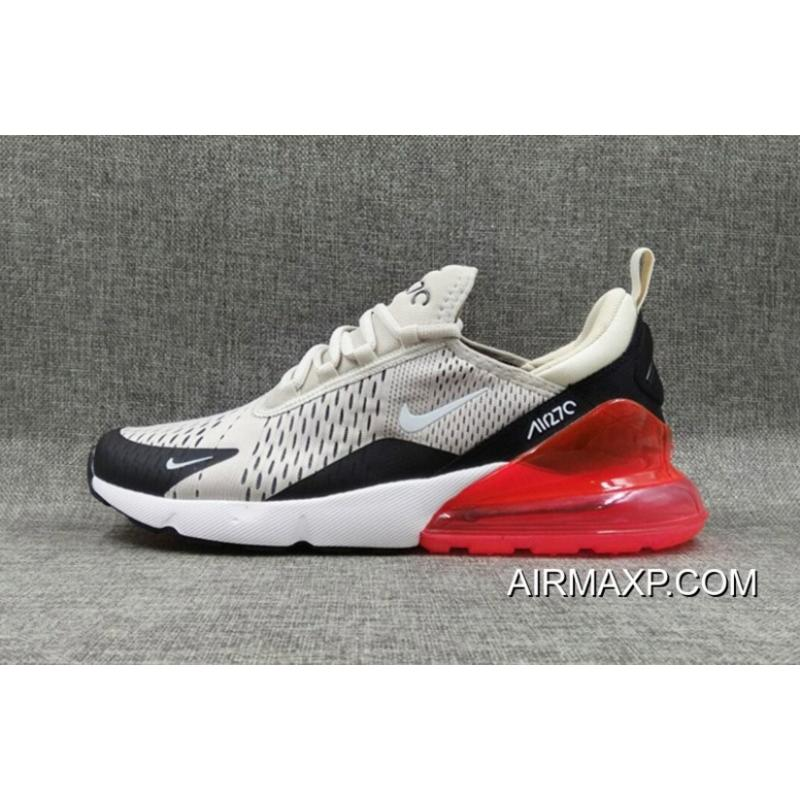 13eba8b97a894 ... Nike Air Max 270 Flyknit White Black Red Outlet
