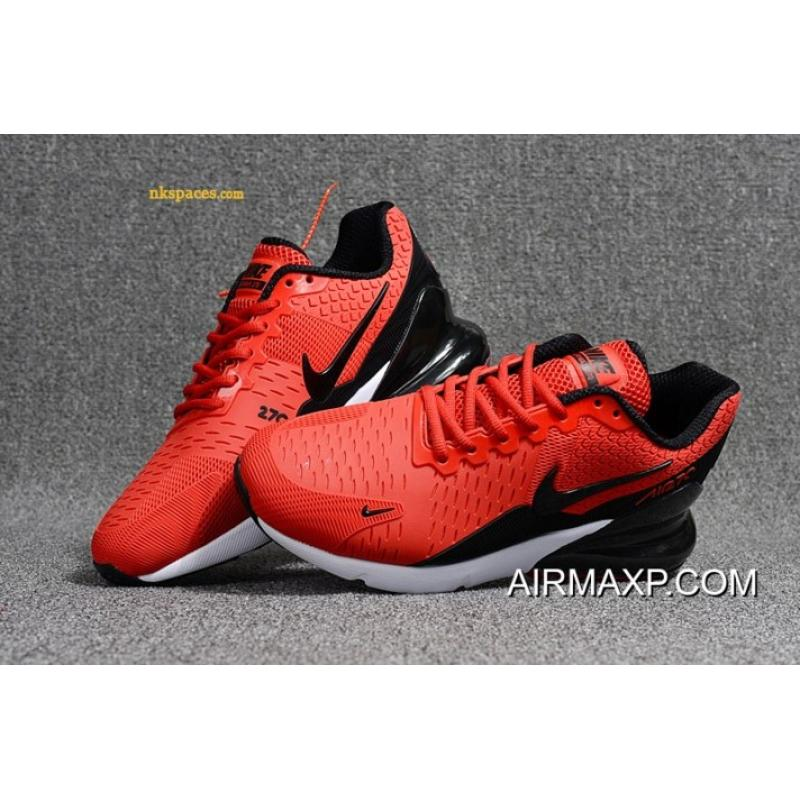 238b917353b6 ... Nike Air Max 270 Men Red Black White New Year Deals ...