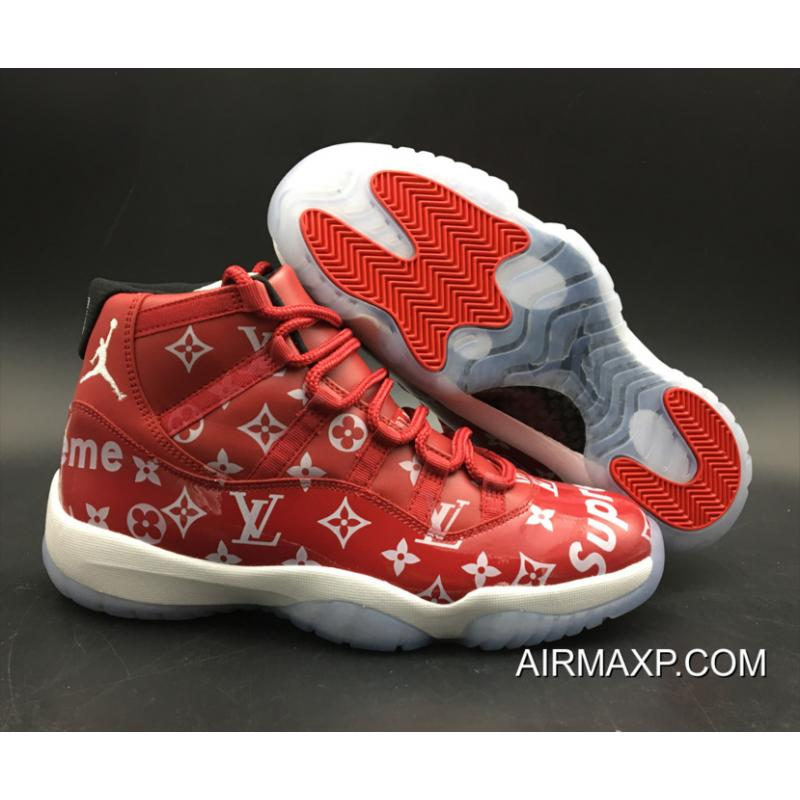 best service 6a246 db7f7 Supreme X Air Jordan 11 Custom Gym Red-White New Year Deals