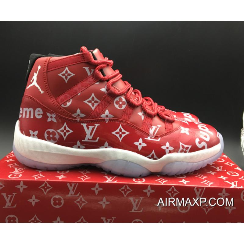 6d790685bed Supreme X Air Jordan 11 Custom Gym Red-White New Year Deals, Price ...