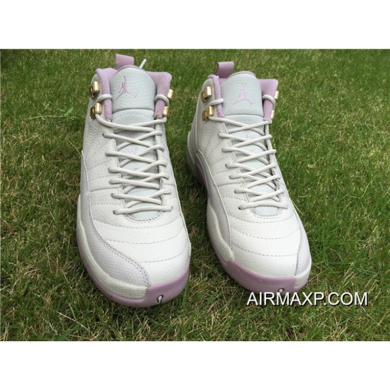 39cd7efc8b55a4 ... Women Air Jordan 12 GS Heiress  Plum Fog  Best ...