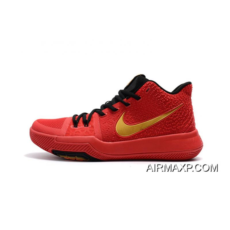 ceee6bfa7d03 ... Buy Now Girls Nike Kyrie 3 Red Black Gold ...