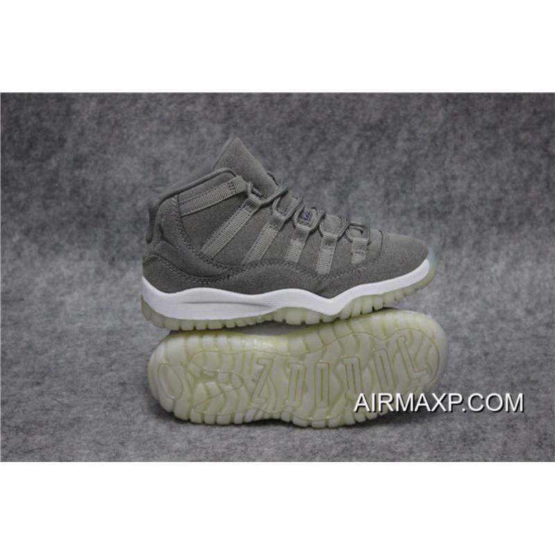 3192d06554a3a4 ... Buy Now Air Jordan 11 Grey Suede For Kids ...