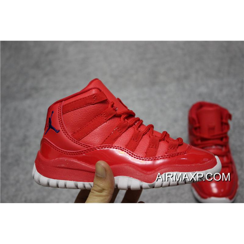 13f266a3dc13 ... Air Jordan 11 Gym Red Black-White For Kids For Sale ...