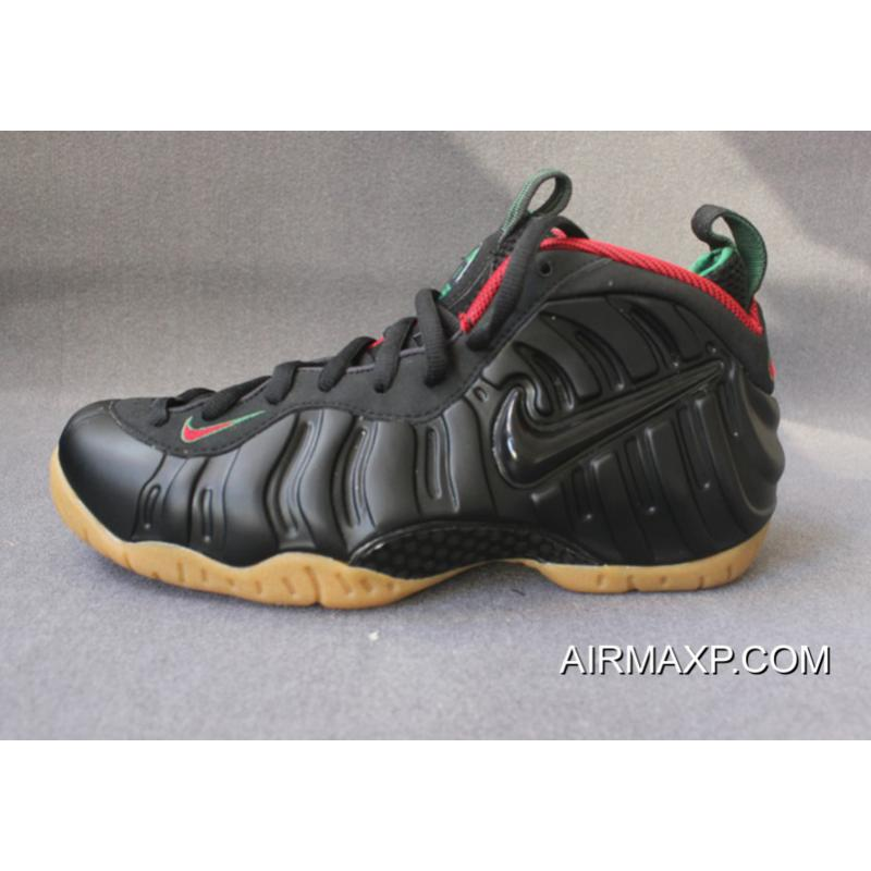 a24e97f6817 Nike Foamposite Pro Black Gorge Green-Metallic Gold-Gym Red Free Shipping  ...