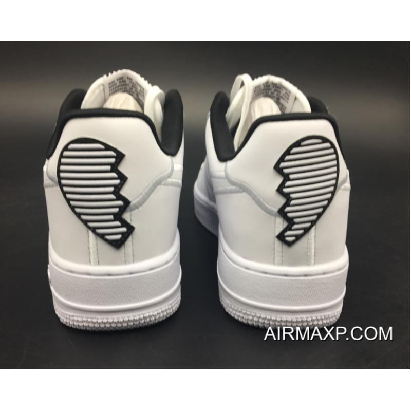 Women Men New Release Nike Air Force 1 Valentine S Day White Black