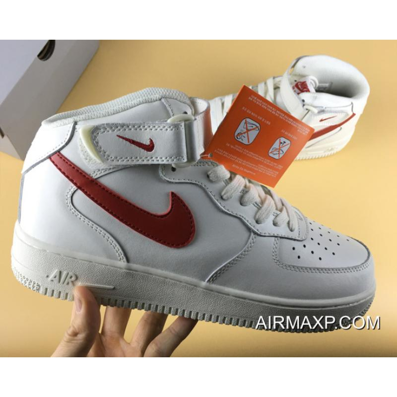 pretty nice c9d4e 73a97 ... Nike Air Force 1 Mid 07 Sail University Red Big Deals ...