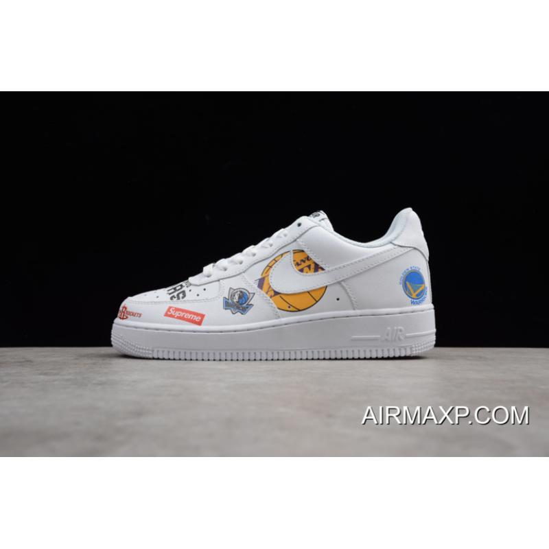 huge discount 8df0c 39e00 Supreme X NBA X Nike Air Force 1 Low White Authentic ...