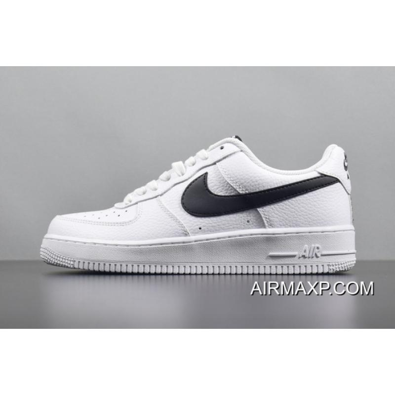 new styles 897b3 26bb9 Women Men Nike Air Force 1 Men AF1 White Black Classic Fashion Casual  Sneaker AA4083 ...