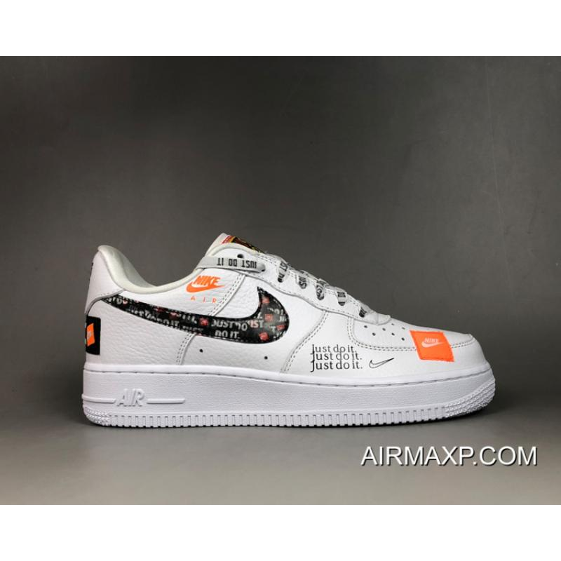competitive price edc01 ae26b Women/Men Super Deals Nike Air Force 1 '07 Premium 'Just Do It' White