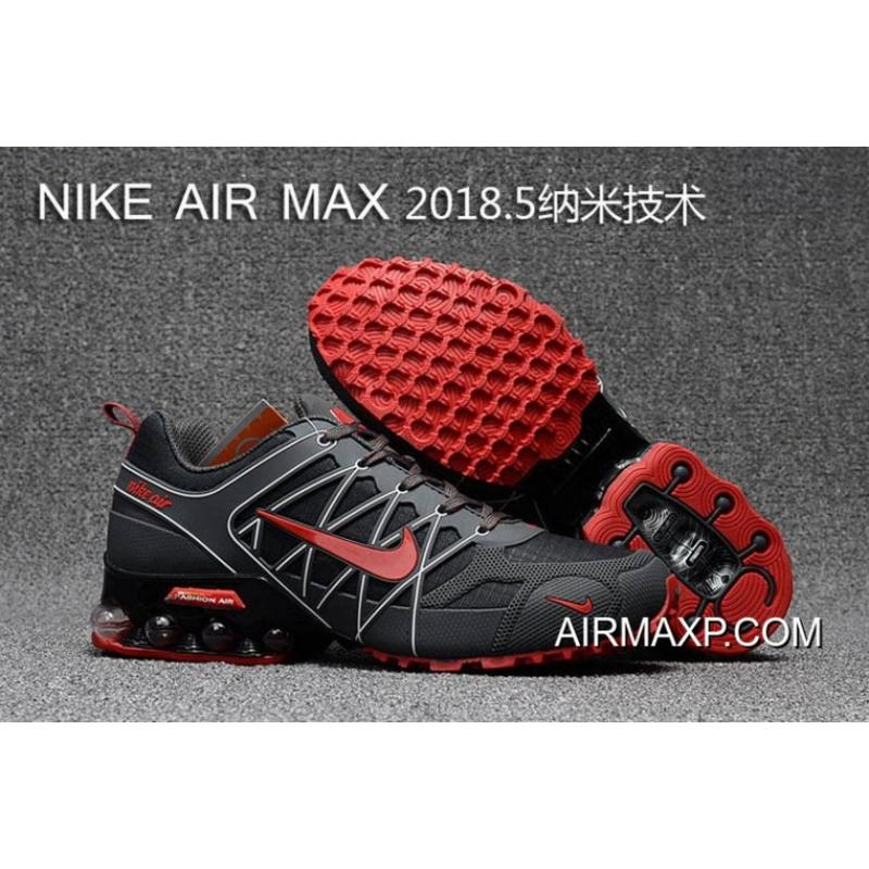 62790766be Nike Air Max 2018 Gray Black White Red Running Shoes New Year Deals ...