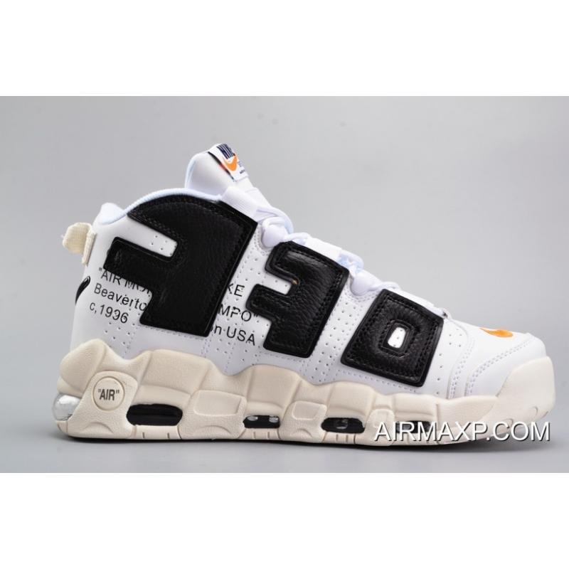 8dd77c171d OFF-WHITE X Nike Air More Uptempo Black And White Best, Price ...