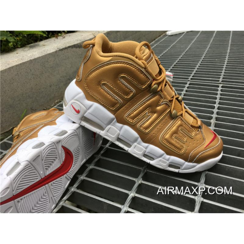 Supreme X Nike Air More Uptempo Supreme X Nike Air More Uptempo Metallic  Gold White ... af63fc99c