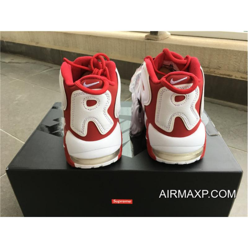 786c6fed277bd ... Latest Supreme X Nike Air More Uptempo Varsity Red White ...